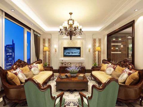天通苑中苑170平米欧式风格三居室装修效果图