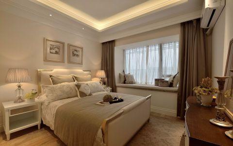 卧室飘窗美式风格装潢图片