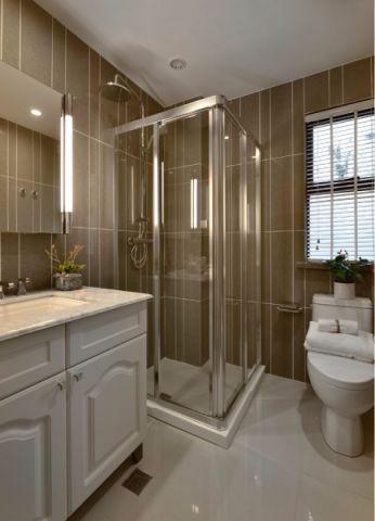 卫生间隐形门美式风格装修设计图片