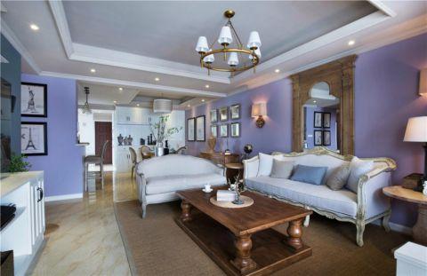 紫廷名苑110平米简欧风格三居室装修效果图