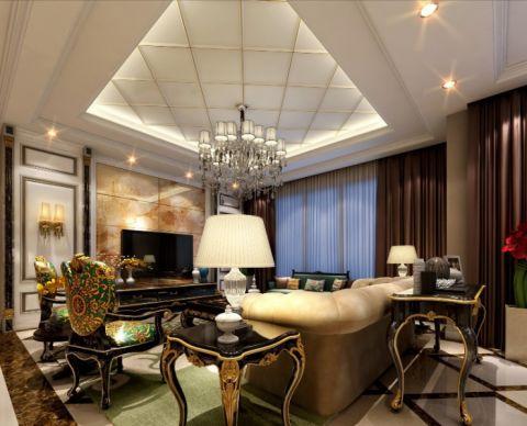 绿城翡翠湖玫瑰园179平米欧式风格三居室装修效果图