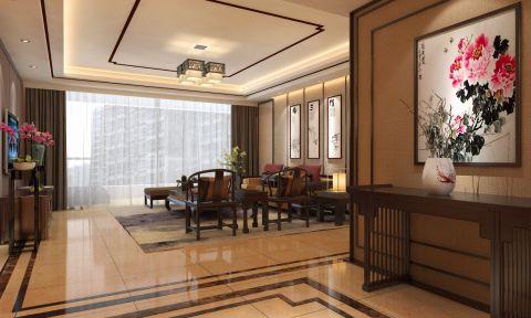 新中式风格四居室装修效果图