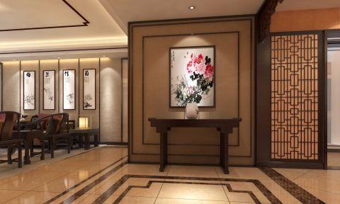 玄关背景墙新中式风格装修效果图