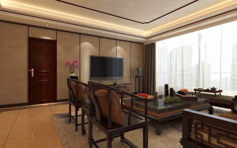 客厅细节新中式风格装潢效果图