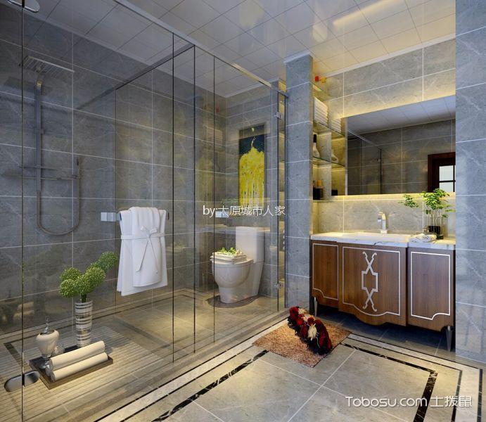 卫生间 隔断_文兴苑190平米中式风格四居室装修效果图