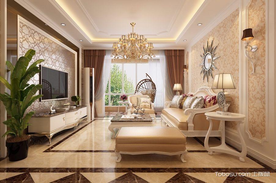 客厅 背景墙_洛阳欧式风格套房装修效果图