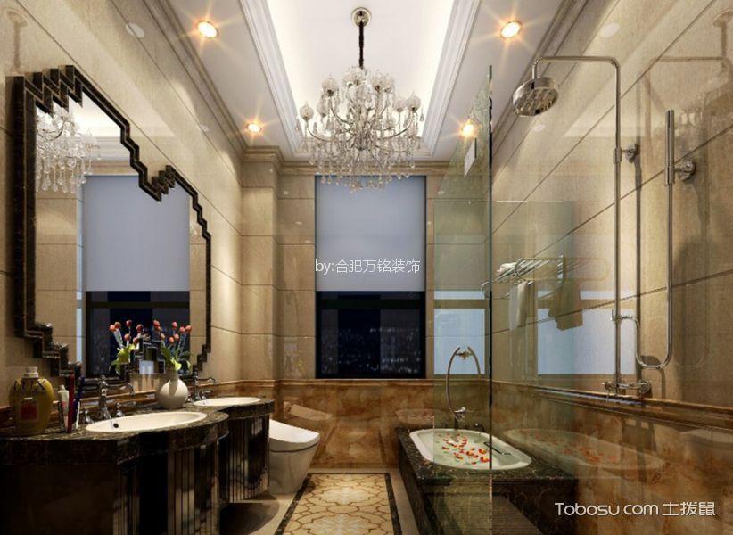 卫生间 细节_绿城翡翠湖玫瑰园179㎡欧式风格三居室装修效果图