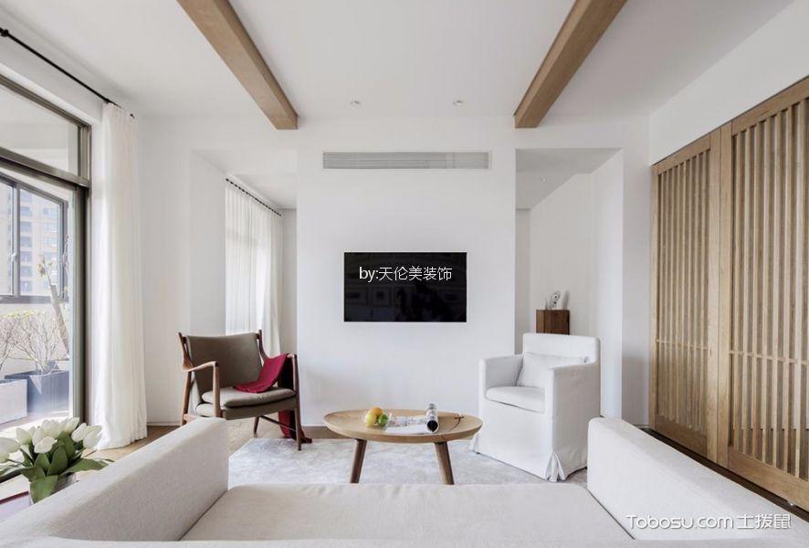 富力桃园120平方现代风格三居室装修效果图