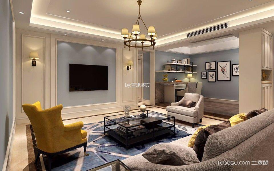 大自然华城140平米美式风格四室两厅装修效果图