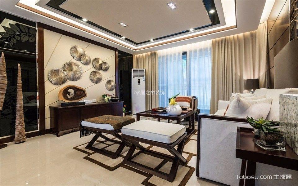 世贸城160㎡中式风格4室2厅2卫装修效果图