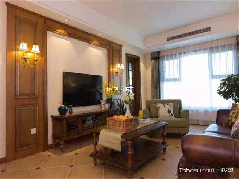 中街水晶城117平古典風格三居室裝修效果圖