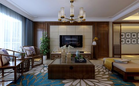 文兴苑190平米中式风格四居室装修效果图