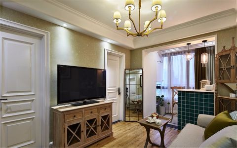 盛和家园62平米古典风格1室装修效果图