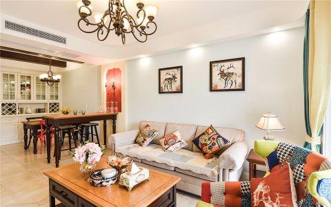 亚东国际公寓95平米地中海风格2室装修效果图