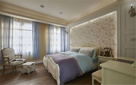 卧室窗帘乡村风格装饰图片
