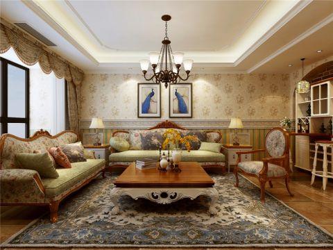 客厅照片墙田园风格装潢图片