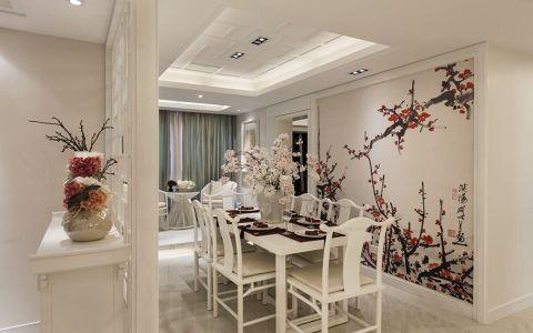 餐厅背景墙中式风格效果图