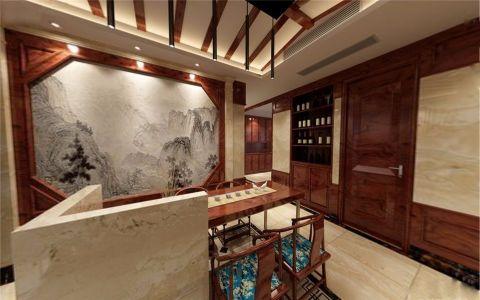 餐厅背景墙中式风格装饰效果图
