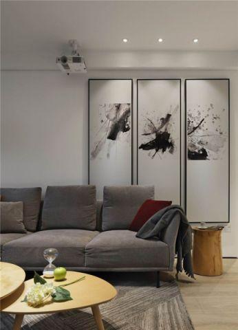 客厅照片墙简单风格装饰图片