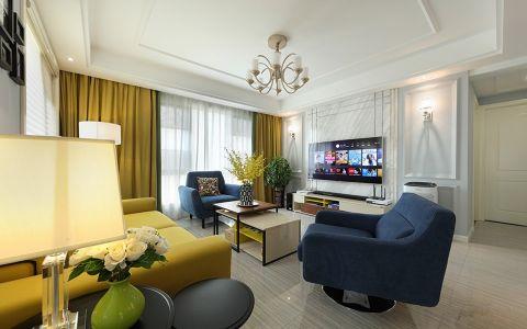 千禧城83平米现代简约风格两室装修效果图