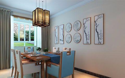 餐厅照片墙新中式风格装修图片