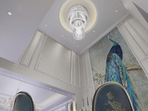 餐厅吊顶简欧风格效果图