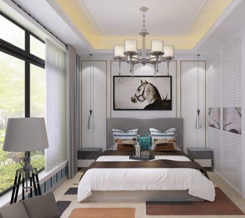 卧室床头柜简欧风格装修图片