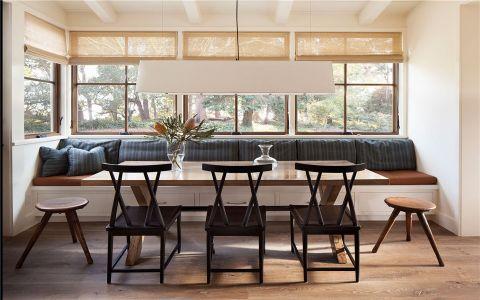 餐厅窗台乡村风格装潢效果图