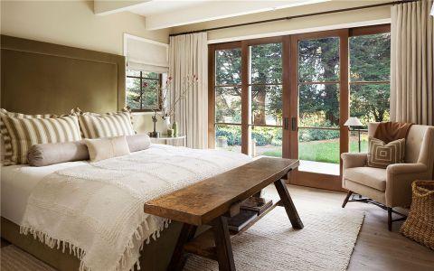卧室窗帘乡村风格装饰设计图片
