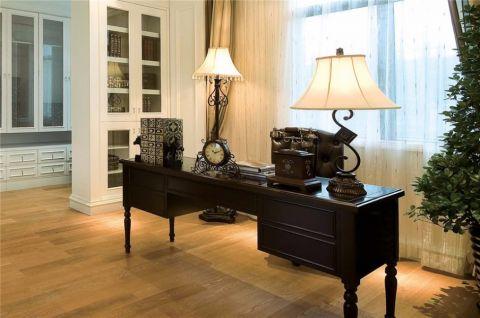 书房窗帘美式风格装饰效果图
