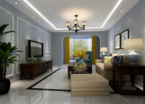 110平米美式风格二居室装修效果图