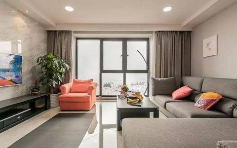 万科金域国际120平现代简约四居室装修效果图
