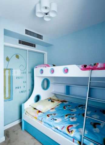 儿童房推拉门欧式风格装潢效果图