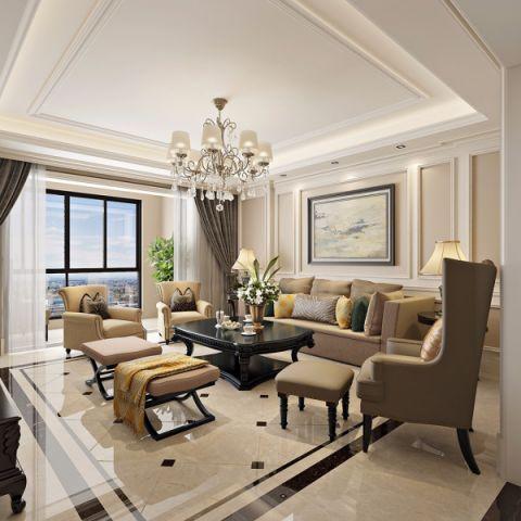 龙城一号110平方简欧风格三居室装修效果图
