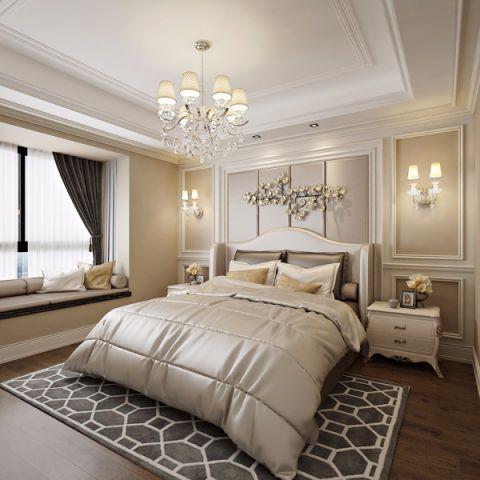 客厅背景墙简欧风格装潢效果图
