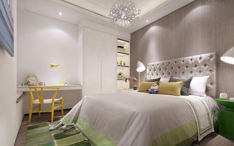 玉兰广场126平三居室现代风格装修效果图