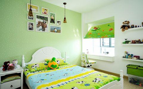 儿童房照片墙田园风格装潢图片