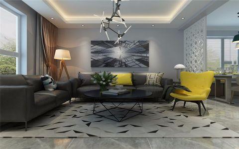 绿城全运村120简约现代风格三居室装修效果图