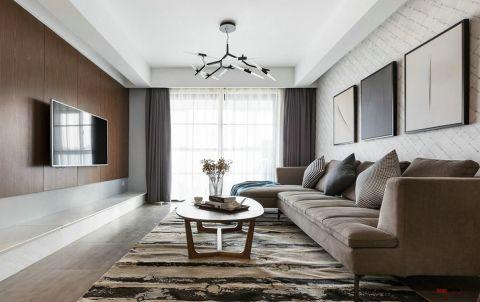新城公馆120平三居室简约风格装修效果图