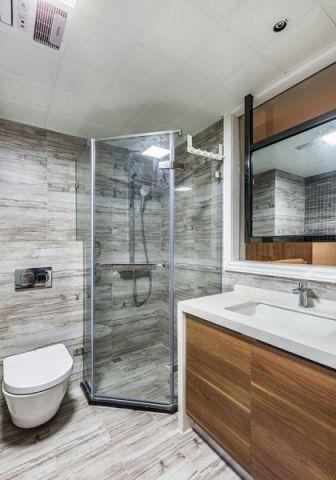 卫生间背景墙简约风格装饰设计图片
