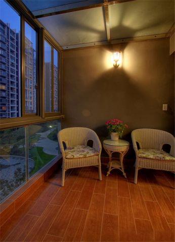 阳台窗台田园风格装饰效果图