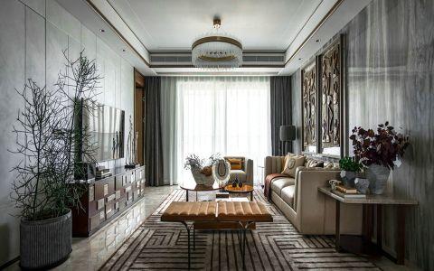 月桂园90平方混搭风格三居室装修效果图