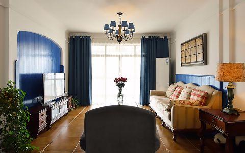 古运北苑110平米 美式风格三居室装修效果图