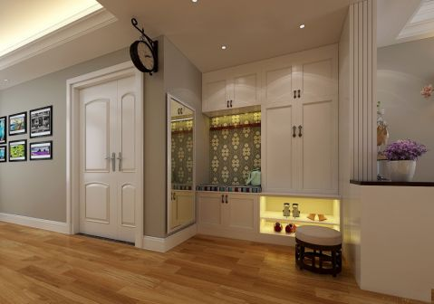 玄关橱柜简欧风格装修图片