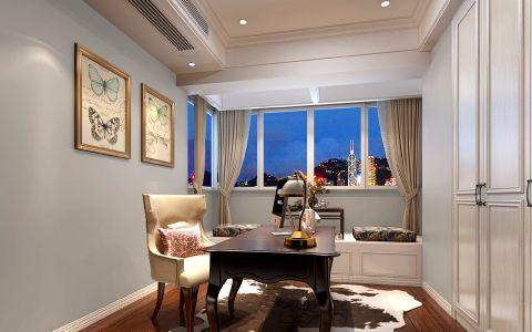 书房吊顶美式风格装饰设计图片