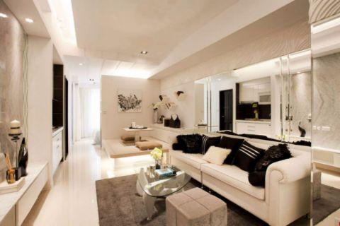 枫丹白鹭70平现代简约一室一厅装修效果图