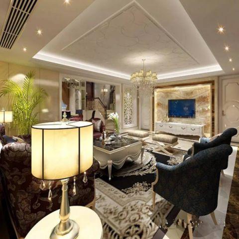 客厅地下室新古典风格装饰设计图片