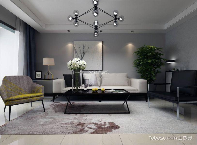 100㎡现代简约风格两居室装修效果图