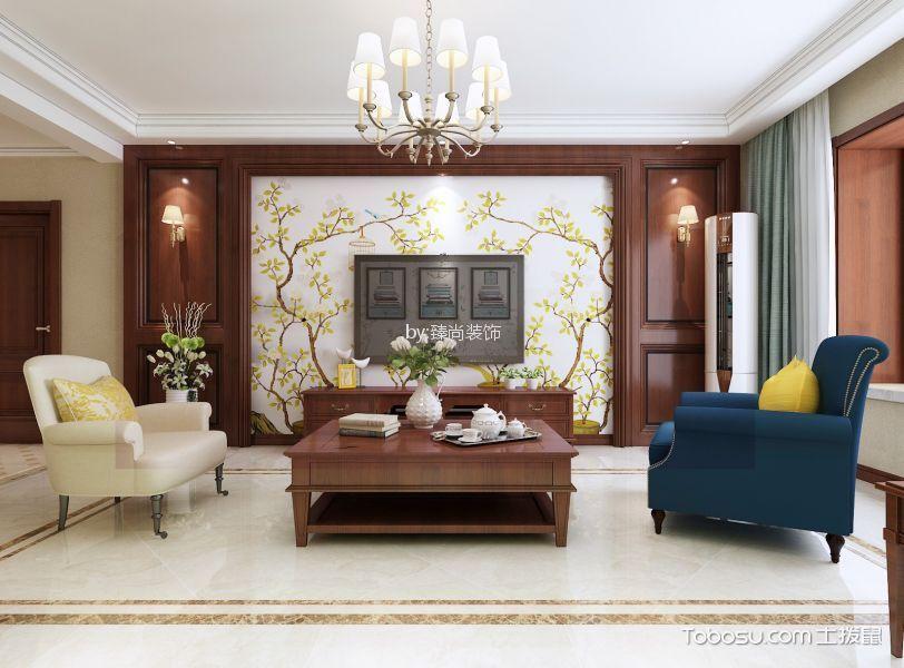 美式风格135㎡三居室装修效果图