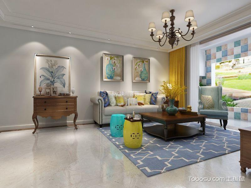 美式风格128㎡小三居装修效果图